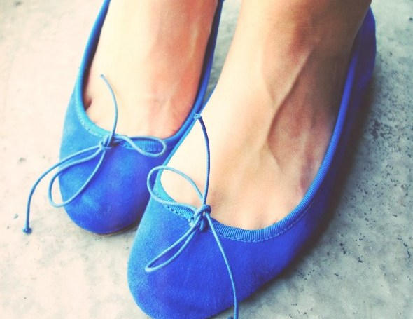 anniel ballerines ballerinas blue bleu klein electric_effected