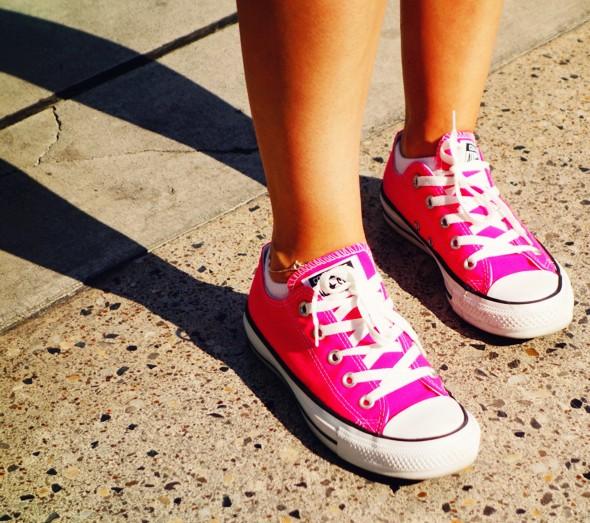 hot pink journey's converse low shoes sneakers fushia fuschia_effected