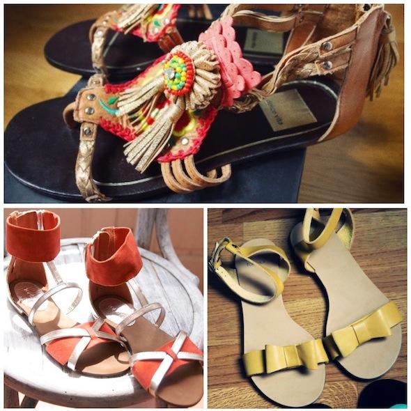 sandales sandals dolce vita edda mexican shoes ponpom topshop orange silver argent yellow jaune