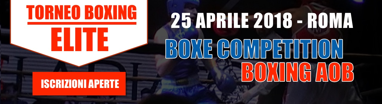 Torneo Elite Boxing AOB & Boxe Competition