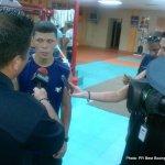 1 nov 2013 Rocky Martinez training for Mikey Garcia 4