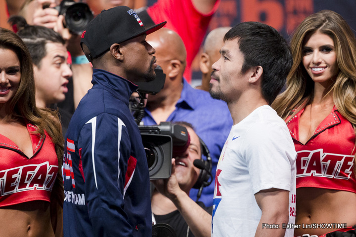 Mayweather and Pacquiao