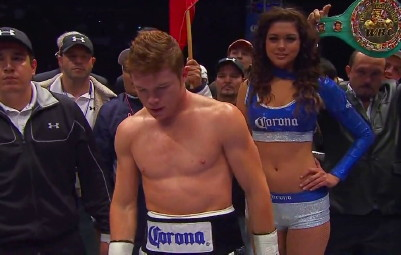 photo: saul alvarez floyd mayweather jr