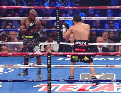 photo: timothy bradley floyd mayweather jr