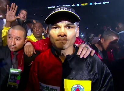 photo: marcos rene maidana manny pacquiao floyd mayweather jr