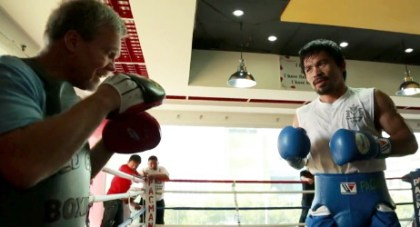 photo: manny pacquiao floyd mayweather jr