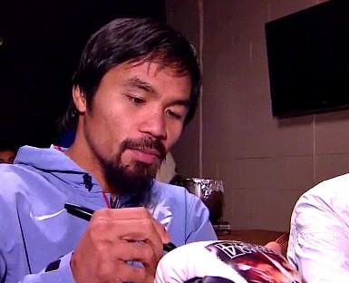 photo: manny pacquiao floyd mayweather jr boxing