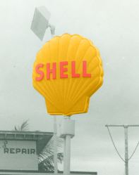 1955 Sign for Shell Oil Company