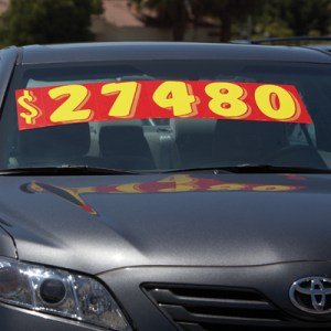 11 inch windshield number stickers