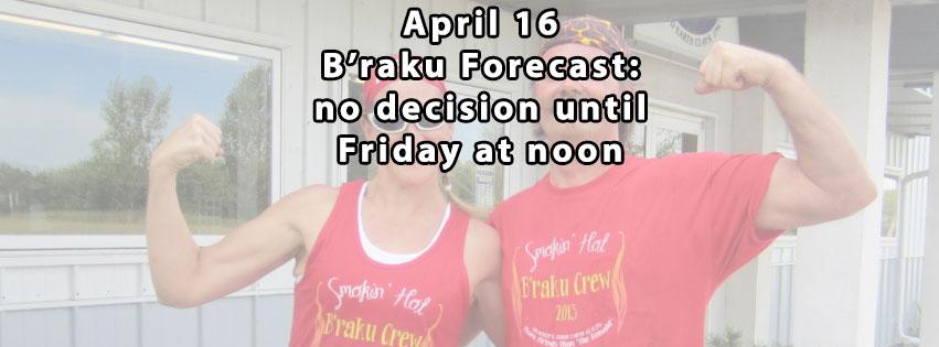 B'Raku is Back!!! Second Saturday in April!