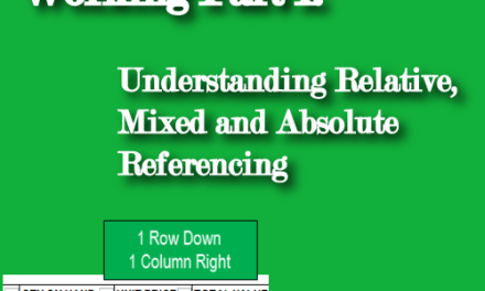 Excel Formulas Not Working Part I: Understanding Relative, Mixed and Absolute Referencing