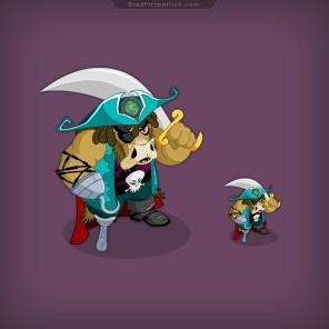 Alien-Bull-Pirate-NPC-Game-Character-Design