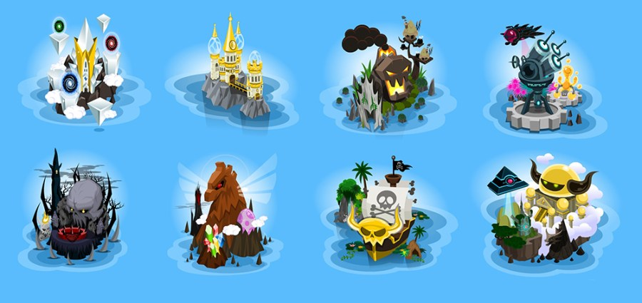 Crystal-Casters-Map-Island-Icons