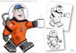 Cartoon Astronaut Character Design