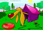 Vector Illustration of a Dog in a Doghouse