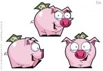 Cartoon Piggy Bank Character Design
