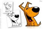 Cartoon Dog Character Design