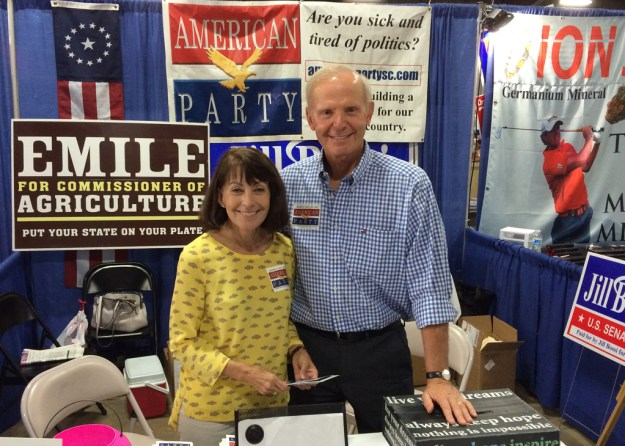 Sue and Jim Rex at the American Party booth at the State Fair last year.