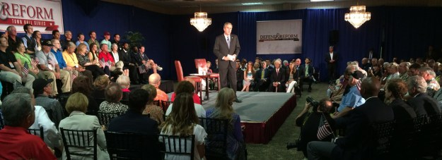 Jeb Bush -- the guy who would normally win in South Carolina -- at a campaign event in Columbia in August.