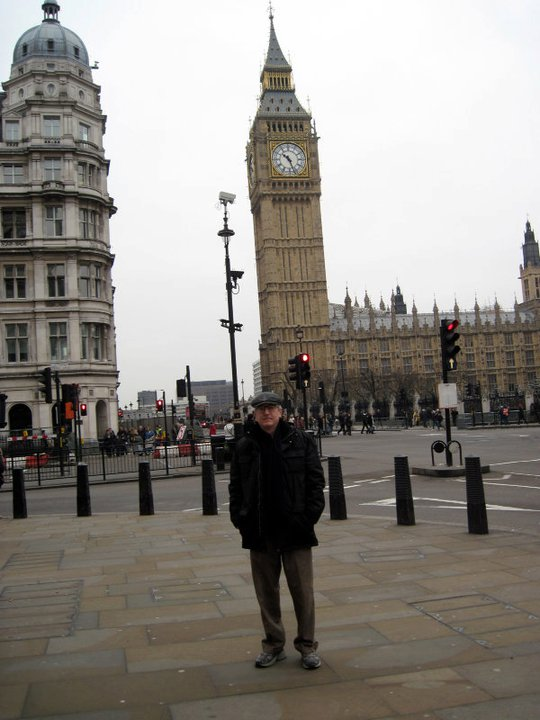 This was the only picture of Parliament I could find in my files. That's me in late 2010.