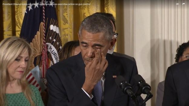 Obama wept