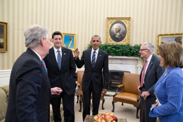 Look! President Obama actually meets with congressional leaders -- including Republicans! (Official White House Photo by Pete Souza)