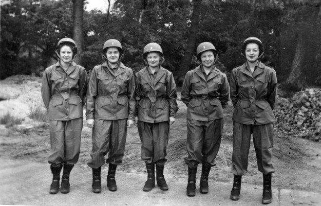 "Says Lynn: ""Here is my mother (2nd from right) dressed in a way that would have suited General Patton."""