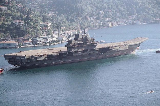 China's one and only aircraft carrier, which they bought used./U.S. Navy