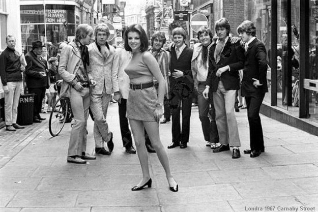 Carnaby Street in London in the '60s, when change was what was happening.