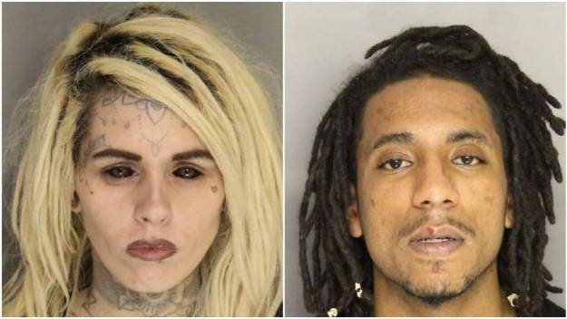 "Mug shots from crime story in The State. Note the way the ""whites"" of her eyes are totally dark. Is she a Fremen? If so, Fremen are scary."