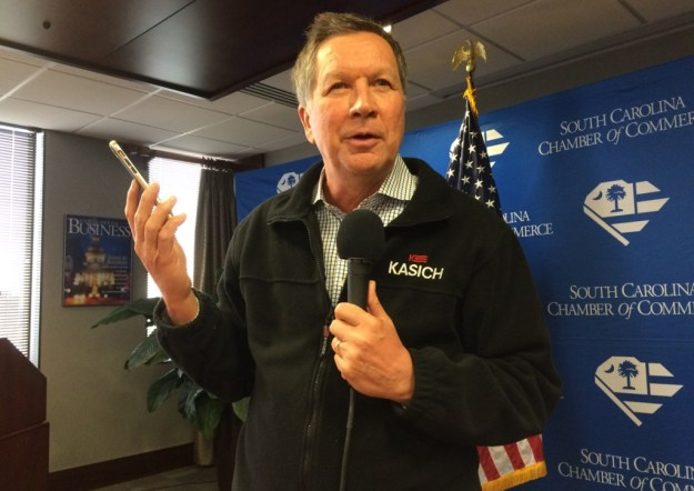 John Kasich, pictured here campaigning in South Carolina last year, and other governors led the charge against the Senate bill.