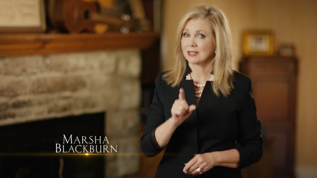 Marsha Blackburn saying she's politically incorrect and PROUD OF IT. Yee-haw...