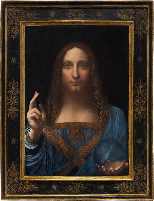 800px-Leonardo_da_Vinci_(attributed),_c.1490–1519,_Salvator_Mundi,_oil_on_walnut,_45.4_×_65.6_cm_(framed)