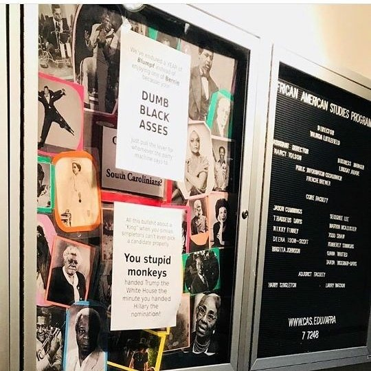Racist signs found at USC.