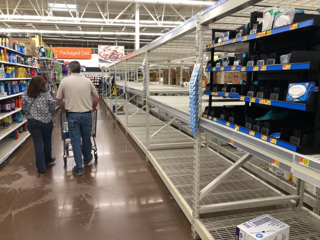 The toilet paper aisle at Walmart in early March.