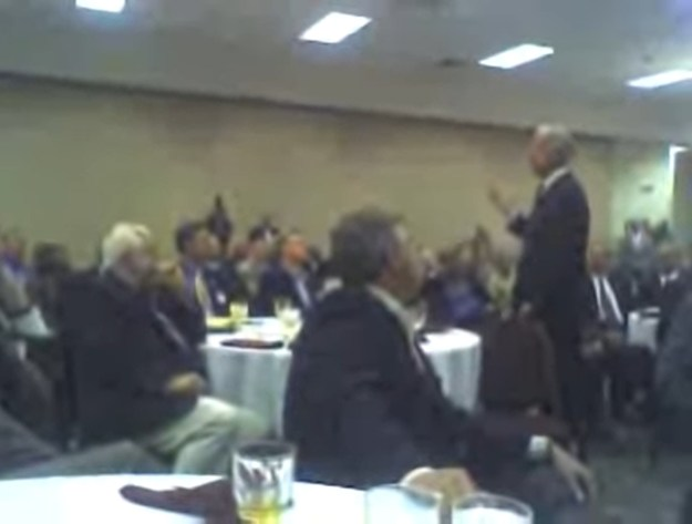 A very blurry Sen. Joe Biden, in Columbia in 2006.