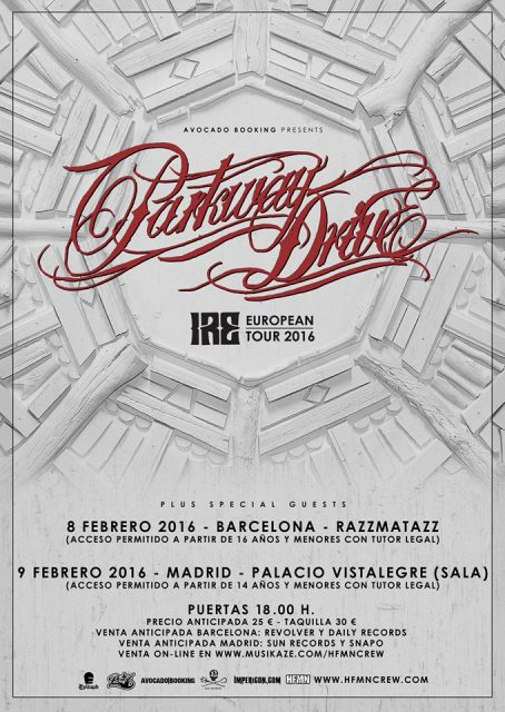 parkway drive spanish tour 2015