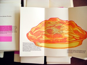 Letterpress pie pamphlet