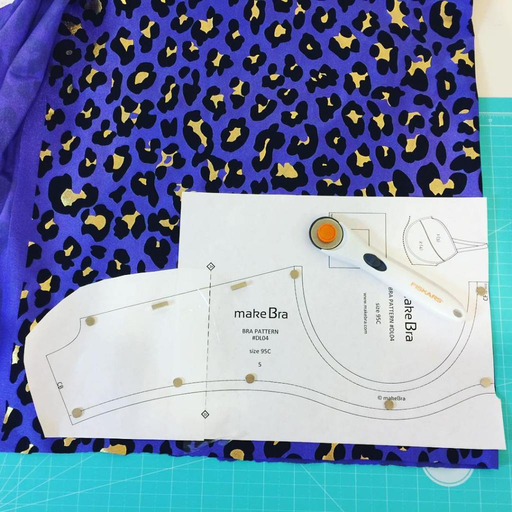 My magnetic cutting mat in action. #makebra #bramaking #bramaking supplies @makebraofficial