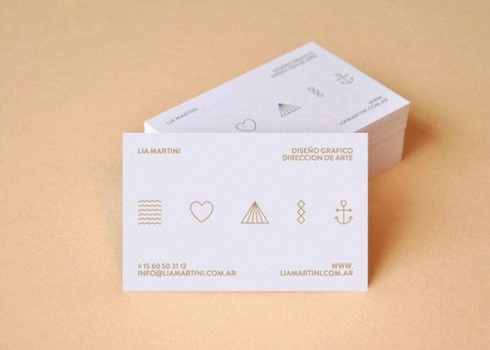 Lia Martini business card deign 02