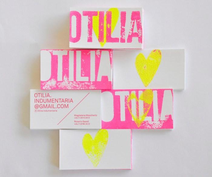 Otilia Indumentaria business card design 17