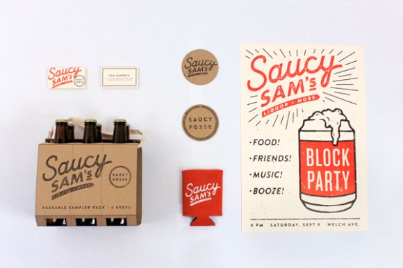 Saucy Sam's brand design 01