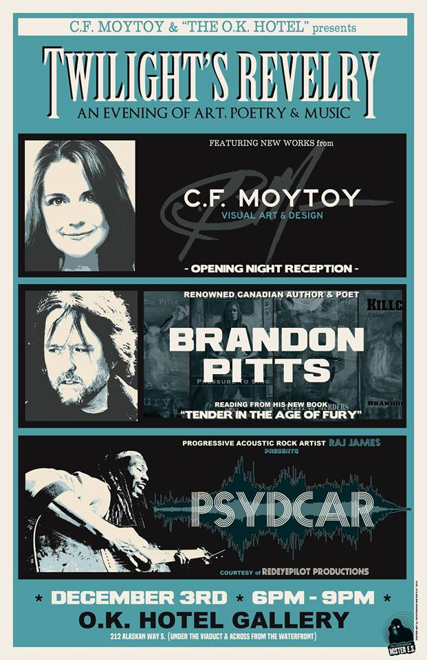 Brandon Pitts, C.F. Moytoy, OK Hotel, Psydcar, Mosaic Press