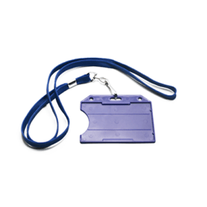 ID card holder with lanyard