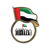 Metal pin with UAE flag and Spirit of union logo