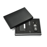 Set of business card holder, pen and keyholder