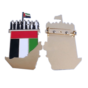 UAE map and flag pin