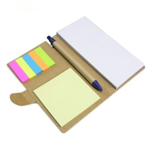 Eco friendly pen with sticky notes