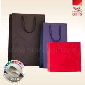 Luxury Paper Bags with lamination - Custom Print Bags - Shopping bags - Carrier Bags All Sizes - www.brandsgifts.ae