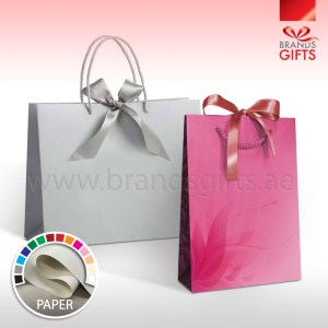 Paper Bags With Lamination - Luxury Gift Bags With Ribbons And Ropes - All Sizes - UAE Manufactured - www.brandsgifts.ae